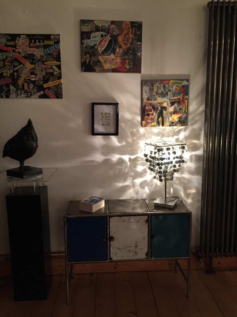 meuble métal bleu